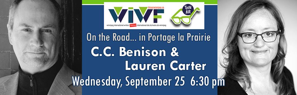 Thin Air Author Readings - C.C. Benison & Lauren Carter - September 25th! 6:30 PM