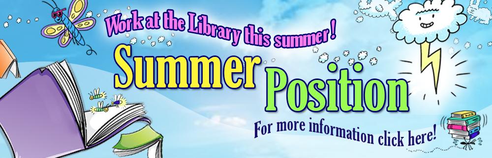 Summer Position! Reading Program Facilitator